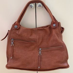 BCBGMAXAZIRA Brown Leather Purse